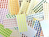 1120 Labels , 6mm Diameter Round , Mixed Colour Code Stickers , Self-Adhesive Sticky Coloured Dots