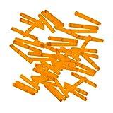 20 Mini-Knicklichter, Bissanzeiger, Angel-Knicklichter in orange inkl. Verbinder | verpackt zu je 2 Stück pro Tüte und ein Verbinder, insgesamt 10 Tüten