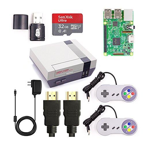 Raspberry Pi 3Model B, retroflag nespi Case, 32GB MicroSD SanDisk, 2Mando SNES USB, Cable HDMI, fuente de alimentación 5V 3a