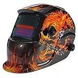 Mascara de soldadura solar - TOOGOO(R) mascara de soldadura automatica solar de casco en forma de llama-craneo