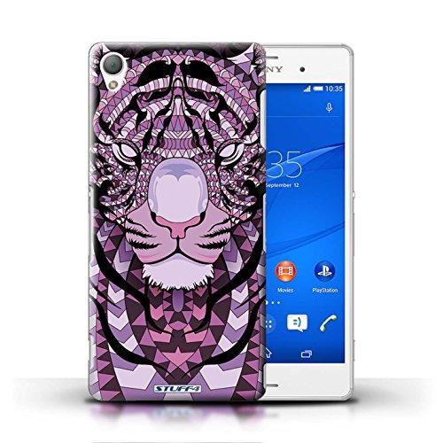 Kobalt® Imprimé Etui / Coque pour Sony Xperia Z3 / Hibou-Pourpre conception / Série Motif Animaux Aztec Tigre-Pourpre