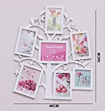 #8: Kurtzy Collage Tree Photo Frame Wall hanging decor for Friends Family 7 pictures LXH 46X54 White