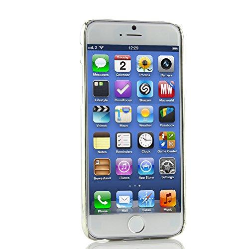 Original Urcover® Schutzhülle für das Apple iPhone 6 / 6S Aluminium Back Cover Rückschale Case [deutscher Fachhandel] Schale Flip Etui Tasche Alu Rosa Schwarz