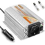 POTEK 150W Convertisseur/Transformateur de Tension 12V à 220V/230V Chargeur Allume-cigare pour Voiture Camping-car - en Alliage d'aluminium