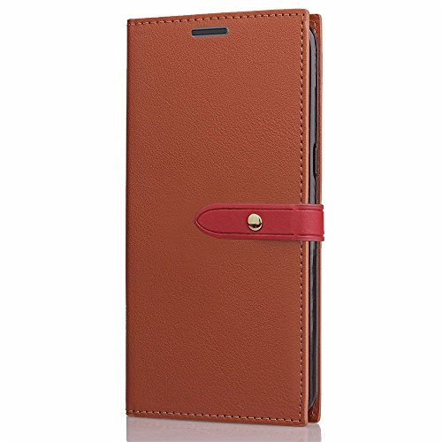 Business Style Mixed Farben Slim Design PU Ledertasche Brieftasche Stand Case [Shockproof] mit Niet Echtes Leder Gürtelschnalle & Kickstand & Card Slots für Sony Xperia XZ Premium ( Color : Wine ) Wine