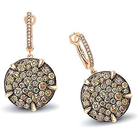 3,64. K, Hot diamonds-Orecchini a cerchio in oro rosa, 14 k - Hot Diamonds Cerchio Orecchini