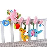 Singring Baby Pram Crib Design Activity Spiral Plush Toys Stroller and Travel Activity Toy