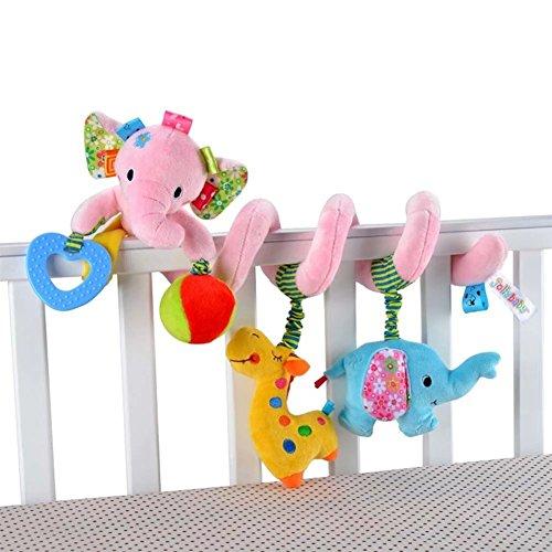 Singring Spirale Aktivität Kinderwagen Baby Plüschtiere Kleinkindspielzeug Spielzeugauto Drehmaschine hängenden Niedlichen kleine Spielzeug