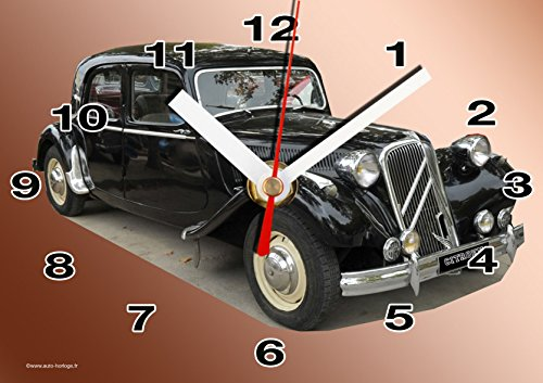 VOITURE CITROEN TRACTION EN HORLOGE MURALE 01M