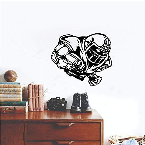 56 cm Raum Größte Raumdekoration Wandaufkleber PVC Fußball Rugby Ball Sport Schlafzimmer Mädchen Jungen Wohnzimmer ()