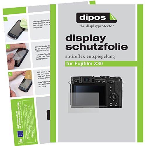 dipos Fujifilm X30 Schutzfolie (6 Stück) - Antireflex Premium Folie matt