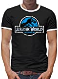 Touchlines Merchandise TLM Jurassic World Distressed Logo T-Shirt Herren XXXXL Schwarz