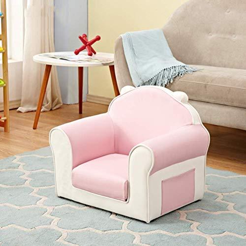 Kindersessel, Cute Mini-Sessel Baby Kindersofa, Cartoon Mini Sofa Plüschtier Kinder Sicherheitssitz,Rosa,56x41x49cm(22x16x19inch)