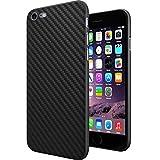 TheSmartGuard Hülle kompatibel für iPhone 6S-6 Hülle Schutzhülle im Carbon Fiber Look/Kohlefaser Optik (4,7 Zoll) - Ultra-dünn mit integriertem Schutz für die Kamera-Linse - Farbe schwarz transparent