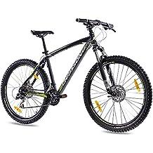 68.58 cm pulgadas bicicleta de aluminio de montaña bicicleta CHRISSON 27, 5ER unisex con 24 G Shimano disco Dragon negro mate de llanta de 2 x