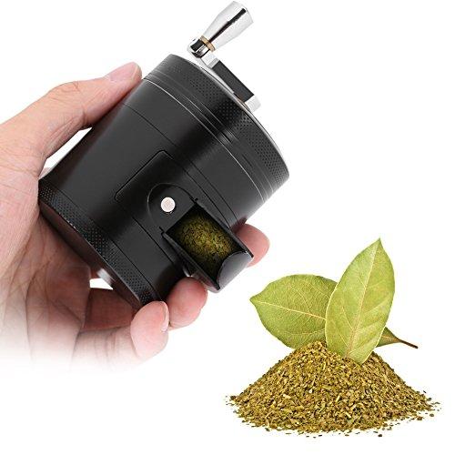 Yosoo Grinder Herb Spezie Macinaspezie Macina Erbe Mini Tritatutto Manuale in 5.08 cm, 3-Strato di 4-Camera Lega di Zinco
