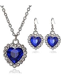 Handmade Jewellery Set Crystal Ice Skating Charm Bracelet & Necklace Xmas Gift Ice Skating Skating Dresses-girls
