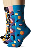 Happy Socks Damen Socken XPOP09-Pop Gift Box, 4er Pack, Blau (Blau 6001), One Size (Herstellergröße: 36-40)