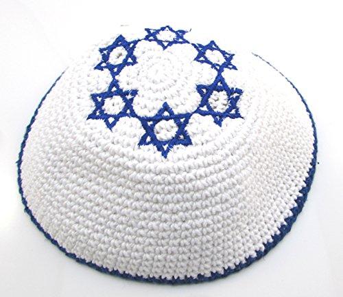 pa jüdische Israeli Judaica Kipa mit Davidstern (Jüdische Hüte Für Männer)