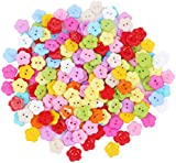 SA 200pcs Mixed Acrylic Flower 14mm 2 Holes Buttons, for Sewing, Scrapbooking, Embelishments, Crafts, Jewellery making, Knitting