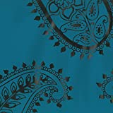 Dutch Wallcoverings 7195–5 Paisley Design Tapete – Petrol