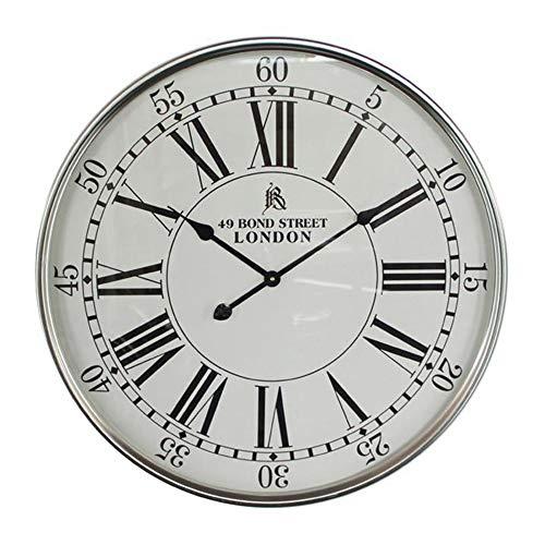 Keliour-hom Moderne Wanduhr Kreative Römische Ziffern Uhr Dekorativ for Modern Home Office Club (Farbe : Weiß, Größe : 68x68x5.5cm) -