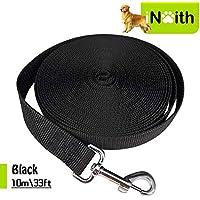 iNeith - Correa de entrenamiento para perro, larga correa para camping, seguimiento, obediencia, juego, 10m, nailon negro