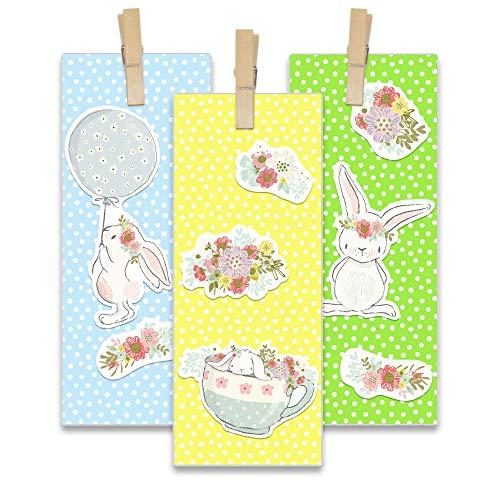 Papierdrachen 12 Oster-Geschenktüten für Kinder - DIY Osterkörbchen zu Ostern - Motiv Osterhase - Ostergeschenke für Kinder - Set 5