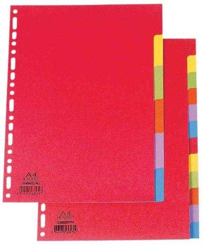 ELBA Karton-Register, blanko, DIN A4, farbig, 12-teilig 10er Sparpack (20, 12-teilig)
