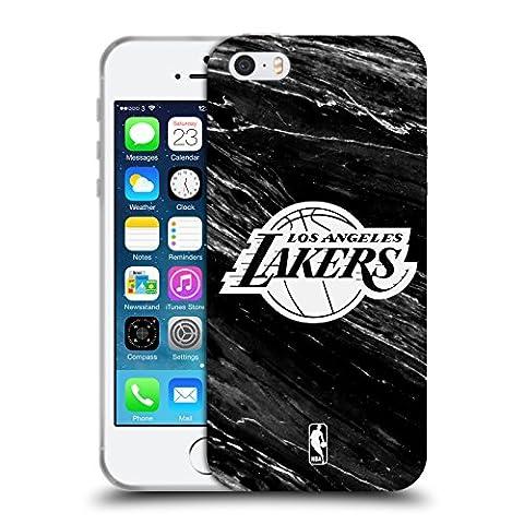 Coque Iphone 5 Nba - Officiel NBA B&W Marbre Los Angeles Lakers