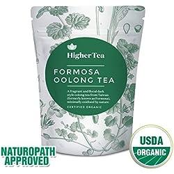 Oolong Tee 3 Oz, durch höheren Tee (40 Tassen). Formosa Organic Oolong - die beste Qualität der Welt. Premium Loose Leaf Tee, wiederverschließbare Beutel, perfekt für Tee-Kenner auf der Suche nach dem