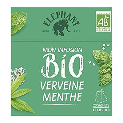 Elephant - Infusion Bio Verveine Menthe Citron 26G - Lot De 4 - Vendu Par Lot - Livraison Gratuite En France