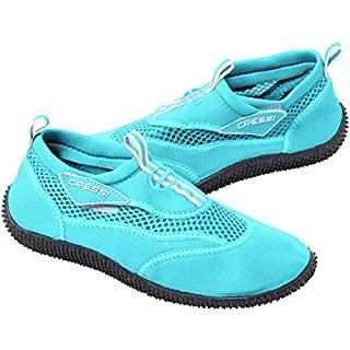 Cressi Reef - Premium Aqua Beach Shoes Adult and Children's, Aquamarine, UK 6.5/EU 39