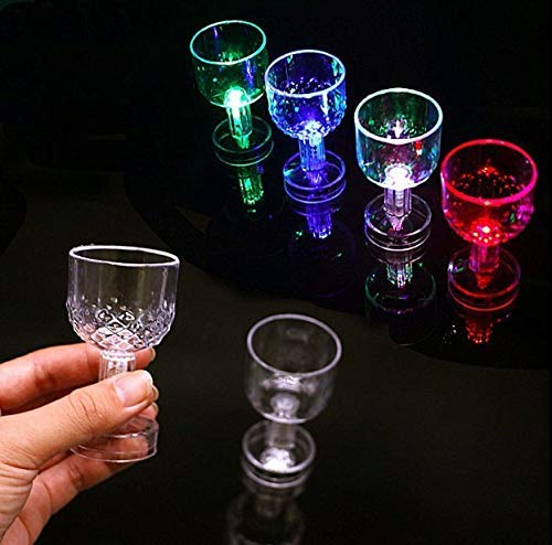 Gwill 5 Pack Schalter Blinkende Tasse Rotwein LED Trinkglas Bunte Glow Champagner Martini Margarita...