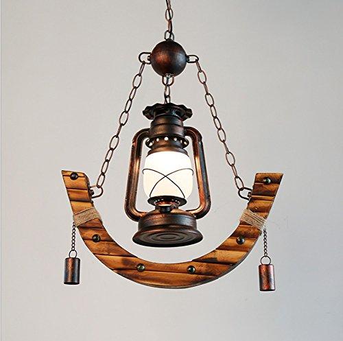 Amerikanischer Bauernleuchter Kerosinlampe Bambuslampe Antikes Western Restaurant Cafe E27 * 1 (Lampenschirme Western-stil)