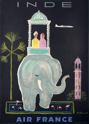 vintage-travel-india-with-air-france-250gsm-gloss-art-card-a3-reproduction-poster