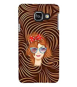 PRINTVISA Beautiful Girl Case Cover for Samsung Galaxy A3 A310 (2016 Edition)