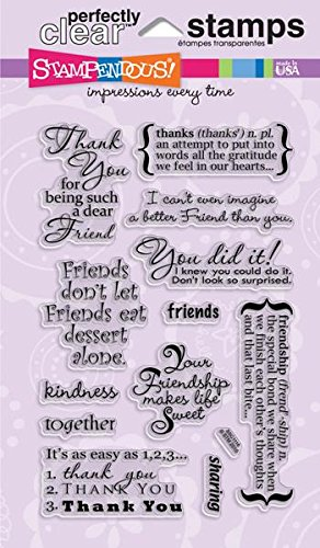 Stampendous SSC1116 Perfectly Clear Stempel, Freundschafts-Sortiment -