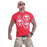Yakuza Original Herren Skull Collection T-Shirt, Gr.-XXL, Ribbon Red