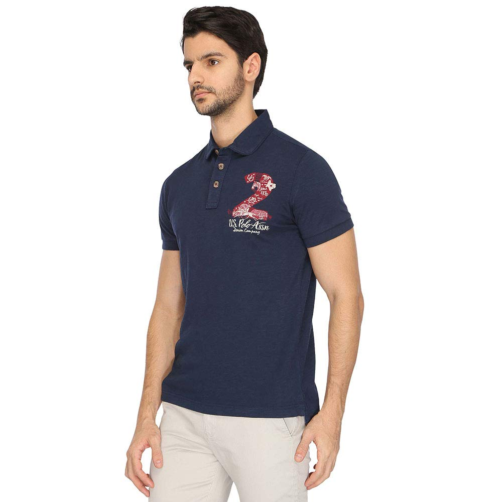 Us Polo Mens Solid Regular Fit T Shirt