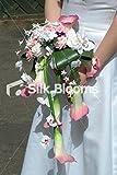 Silk Blooms Ltd Pink Lila Calla Lily Orchidee Road Wasserfall Bridal Bouquet