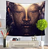 GT Tapestry, Creativity Buddha statue, Wall Hanging Tapestry, Hippie Tapestries, Print Tapestry, Cotton Handmade Tapestry, Twin Size Bedding Bedspread, Picnic Beach Sheet, Table Cloth, Decorative Wall Hanging, 150*200CM