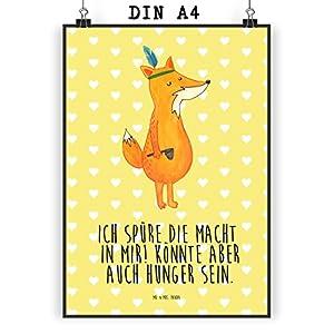 Mr. U0026 Mrs. Panda Poster Din A4 Fuchs Indianer U2013 Indianer, Fuchs, Füchse,  Hunger, Kochen, Geschenk Koch, Deko Küche, Spruch Lustig, Witzig Poster,  Wandposter ...