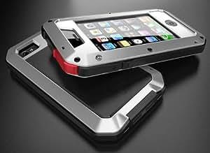 BYA Coques de protection en aluminium avec écran Gorilla pour Samsung Galaxy S3 i9300
