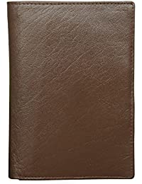 Style98 Brown Premium Quality Pure Leather Women's Wallet|| Men's Travel Wallet|| Unisex Passport Pouch||Passport...