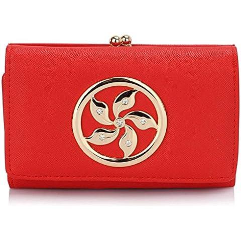 Xardi London, in pelle, da donna, portafogli da donna con pompon Matinee-Portafoglio con portamonete