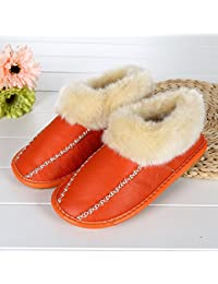 mhgao Hombres de otoño/invierno casa extraíble Lazy cálido zapatillas zapatillas, 4, medium