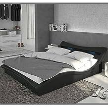 muebles bonitos – Cama de diseño Modelo Granada en Color Negro 140x190cm ...