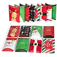 Cajas para Regalo, Cajas de Regalo, Caja de Regalo de Navidad, Caja de Regalo de Elk, 16 Piezas de Almohada Cajas de Caramelo Parael Banquete de Navidad
