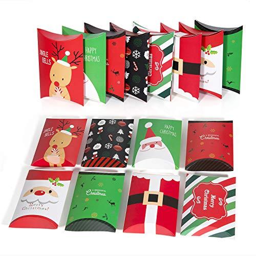 Comius 16 pcs scatole regalo natale, confezioni regalo dolcetti, biscotti, dolci, caramelle e saponi fatti in casa scatole regalo per baby shower, natale, compleanni